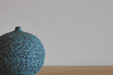 Apple Bottle (Turquoise Volcanic Glaze) - Josh Herman