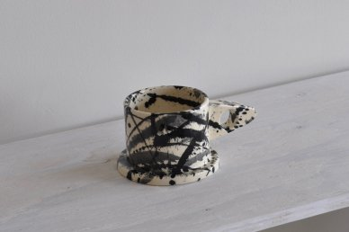Mug (Splattered・monotone) 013 - Echo Park Pottery (Peter Shire)