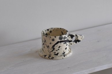 Mug (Splattered・monotone) 014 - Echo Park Pottery (Peter Shire)