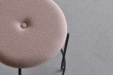 Plain stool fabric (pink-145) - Mark manna furniture service