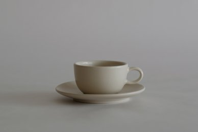 Teacup & Saucer (Linen) - Heath Ceramics