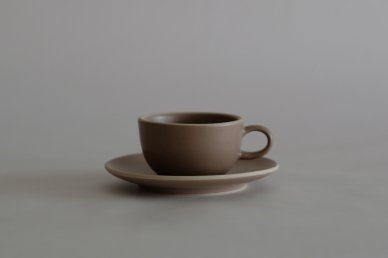 Teacup & Saucer (French Gray) - Heath Ceramics