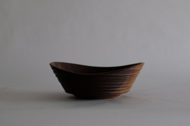 OK Bowl (walnut・texture) 079 - Circle Factory・George Peterson