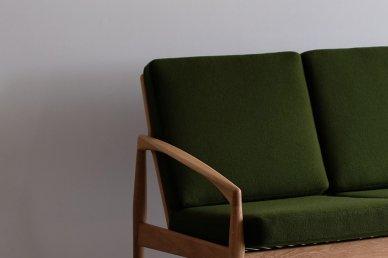 Paper Knife Sofa 3seat (oak x green) - Kai Kristiansen