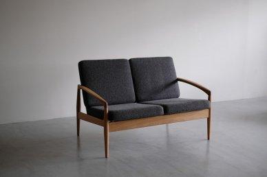 Paper Knife Sofa 2seat (oak x tweed black) - Kai Kristiansen