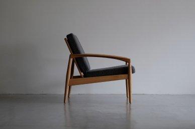 Paper Knife Sofa 1seat (oak x tweed black) - Kai Kristiansen