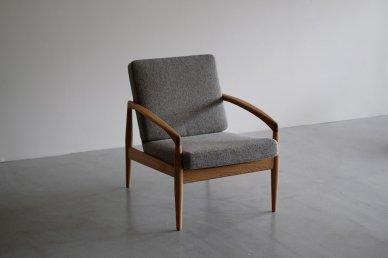 Paper Knife Sofa 1seat (oak x tweed gray) - Kai Kristiansen