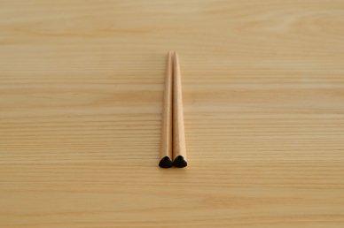 三角箸 短・黒 (ブナ) - graf