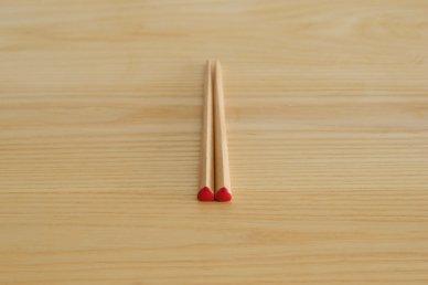 三角箸 短・赤 (ブナ) - graf