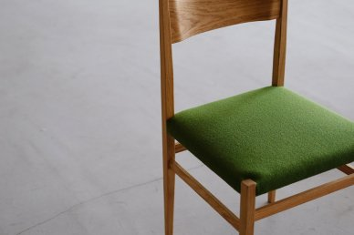 Menu Side Chair (oak x holly black) - Hiroshi Akutsu