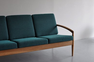 Paper Knife Sofa 3seat (oak x art gray) - Kai Kristiansen
