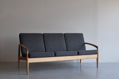 Paper Knife Sofa 3seat (oak x tweed black) - Kai Kristiansen