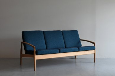 Paper Knife Sofa 3seat (oak x art blue) - Kai Kristiansen