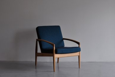 Paper Knife Sofa 1seat (oak x art blue) - Kai Kristiansen