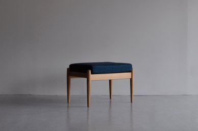 Paper Knife Sofa Ottoman (oak x art blue) - Kai Kristiansen