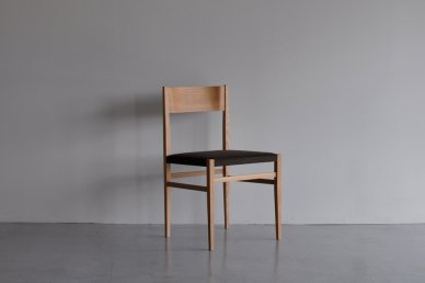 Menu Side Chair (oak x d.brown) - Hiroshi Akutsu