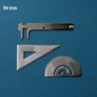 BRASS真鍮ノギス定規・三角定規・分度器 AB