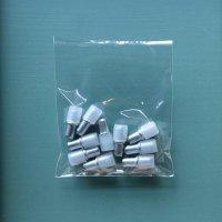 HAFELE 5mmΦガラス用棚板ダボ 10個【707】