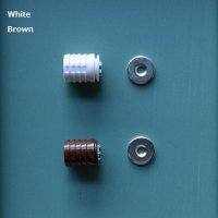 埋め込み式マグネットキャッチ ホワイト/ブラウン【1162】
