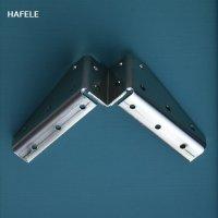 HAFELE テーブル脚 大型家具用L字金具 #641.01.711【782】