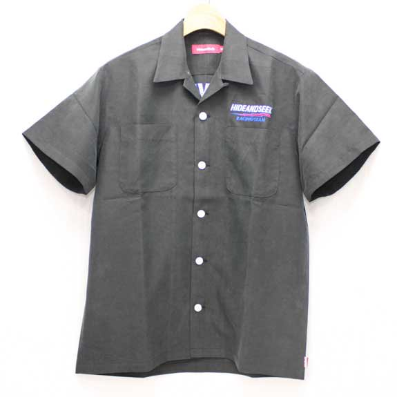 HIDE&SEEK HS Bolt S/S Shirt:BLACK