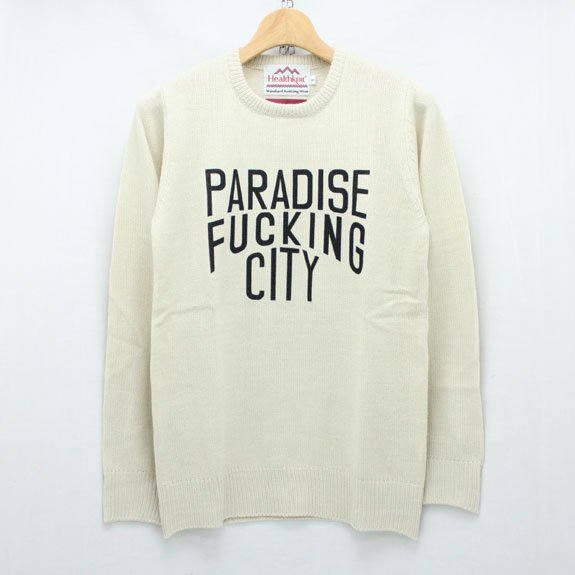 HIDE&SEEK PA FU Crew Knit:OFF WHITE(SOLID)