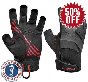 Mustang Technical Open Finger Gloves