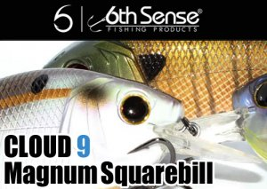 6th Sense/Cloud 9 Magnum Squarebill Crankbait クラウド 9
