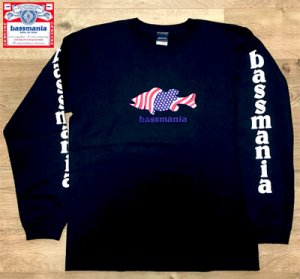 bassmania USA BASS print L/S