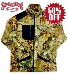 <img class='new_mark_img1' src='https://img.shop-pro.jp/img/new/icons34.gif' style='border:none;display:inline;margin:0px;padding:0px;width:auto;' />Strike King/Dri Duck Camo Fleece