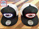 bassmania original patch mesh CAP 【BLK×WHT】