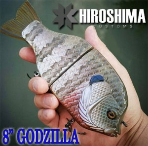 Hiroshima Customs/8″ Godzilla