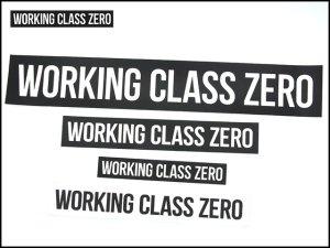 WORKING CLASS ZERO/  WCZ STANDARD STICKERS