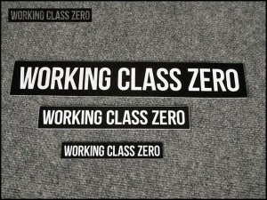 WORKING CLASS ZERO/  WCZ STANDARD STICKERS 9.25