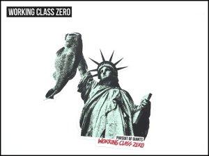 WORKING CLASS ZERO/ LIBERTY BASS STICKER
