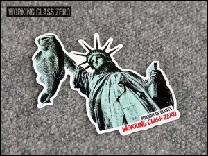 WORKING CLASS ZERO/ LIBERTY BASS STICKER