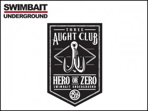 SWIMBAIT UNDERGROUND/THREE AUGHT CLUB STICKERS(メール便がオススメ)