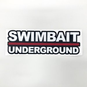 SWIMBAIT UNDERGROUND STICKERS 【X-Large】(白文字)