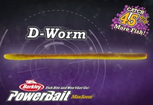 Berkley Powerbait Maxscent マックスセント / D-worm 5.5inch
