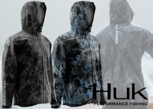 Huk Camo Packable Rain Jacket