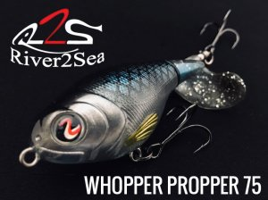river2sea/ ワッパープロッパー Whopper Plopper  【75mm】