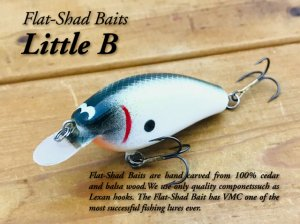 <img class='new_mark_img1' src='https://img.shop-pro.jp/img/new/icons25.gif' style='border:none;display:inline;margin:0px;padding:0px;width:auto;' />Flat Shad Baits/Little B