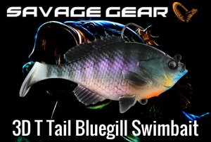 Savage Gear/3D T Tail Bluegill Swimbaits 【3本入り】
