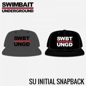 Swimbait Underground Initials 5 Panel Snapback 【Black】