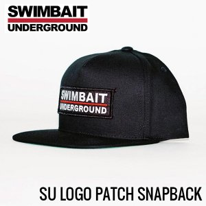 Swimbait Underground /Logo Lock Up Patch 5 Panel Snapback【Black】
