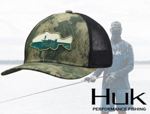 Huk Bass Patch Trucker Stetch Hat 【2019 NEW】