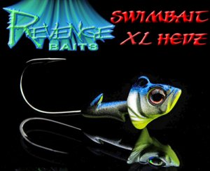 <img class='new_mark_img1' src='https://img.shop-pro.jp/img/new/icons25.gif' style='border:none;display:inline;margin:0px;padding:0px;width:auto;' />REVENGE BAITS/Swimbaits Hedz XL 【3/4oz、1oz】