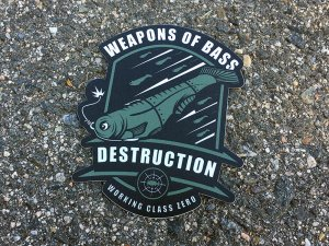 WORKING CLASS ZERO/Weapons of Bass Destruction Sticker