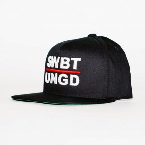 Swimbait Underground Initials 5 Panel Snapback【Black】