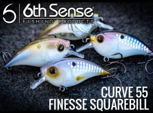 6th Sense fishing/CURVE 55 FINESSE SQUAREBILL